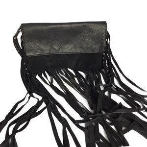 Topshop leather clutch
